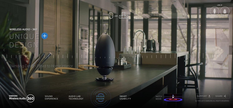 <h1>Samsung Wireless Audio 360 Multiroom Lautsprecher</h1> <h2>Ein neuer Versuch im Multiroom Audio Markt Fuss zu fassen</h2>