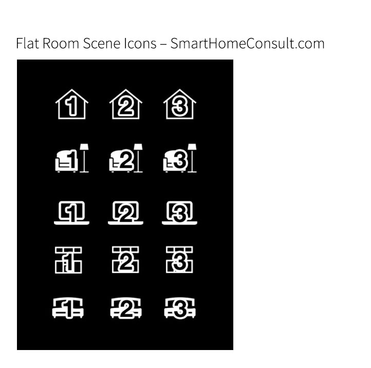 Flat Room Scene Icons für Fibaro Smart-Home