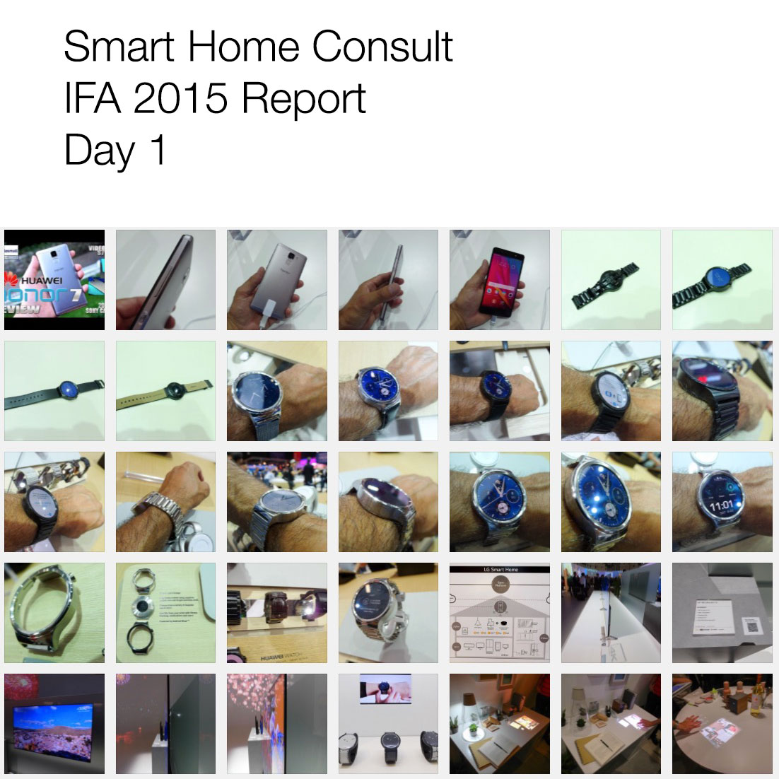 <h1>IFA 2015</h1> <h2>SmartHomeConsult Report</h2>