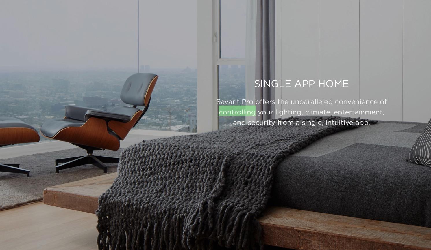 <h1>Savant High End Smart Home</h1> <h2>Neue Massenmarkt Lösung</h2>